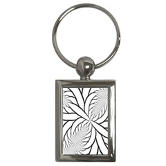 Fractal Symmetry Pattern Network Key Chains (rectangle)