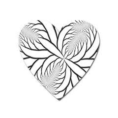 Fractal Symmetry Pattern Network Heart Magnet