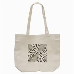 Fractal Symmetry Pattern Network Tote Bag (cream)