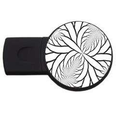 Fractal Symmetry Pattern Network Usb Flash Drive Round (4 Gb)