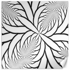 Fractal Symmetry Pattern Network Canvas 12  X 12