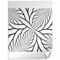 Fractal Symmetry Pattern Network Canvas 36  X 48