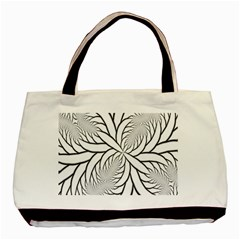 Fractal Symmetry Pattern Network Basic Tote Bag (two Sides)