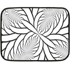 Fractal Symmetry Pattern Network Double Sided Fleece Blanket (mini)