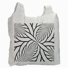 Fractal Symmetry Pattern Network Recycle Bag (two Side)