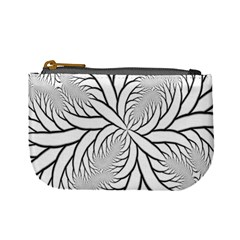 Fractal Symmetry Pattern Network Mini Coin Purses