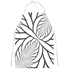 Fractal Symmetry Pattern Network Full Print Aprons