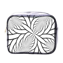 Fractal Symmetry Pattern Network Mini Toiletries Bags