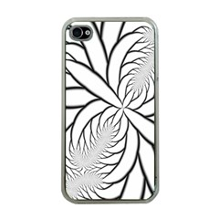 Fractal Symmetry Pattern Network Apple Iphone 4 Case (clear)
