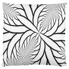 Fractal Symmetry Pattern Network Large Cushion Case (two Sides)
