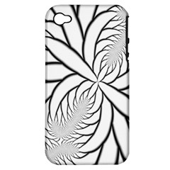 Fractal Symmetry Pattern Network Apple Iphone 4/4s Hardshell Case (pc+silicone)