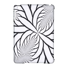 Fractal Symmetry Pattern Network Apple Ipad Mini Hardshell Case (compatible With Smart Cover)
