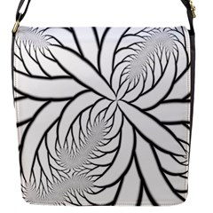 Fractal Symmetry Pattern Network Flap Messenger Bag (s)