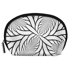 Fractal Symmetry Pattern Network Accessory Pouches (large)