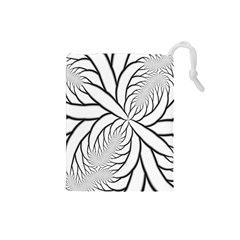 Fractal Symmetry Pattern Network Drawstring Pouches (small)