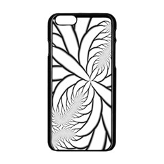 Fractal Symmetry Pattern Network Apple Iphone 6/6s Black Enamel Case