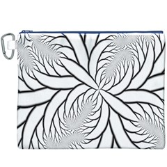 Fractal Symmetry Pattern Network Canvas Cosmetic Bag (xxxl)