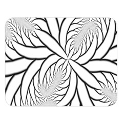 Fractal Symmetry Pattern Network Double Sided Flano Blanket (large)