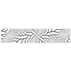 Fractal Symmetry Pattern Network Flano Scarf (small)