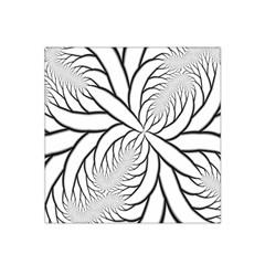 Fractal Symmetry Pattern Network Satin Bandana Scarf