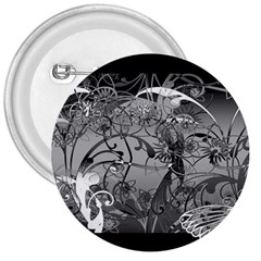 Kringel Circle Flowers Butterfly 3  Buttons