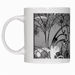 Kringel Circle Flowers Butterfly White Mugs