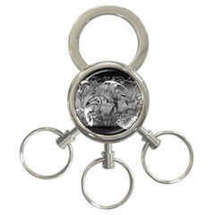 Kringel Circle Flowers Butterfly 3-Ring Key Chains