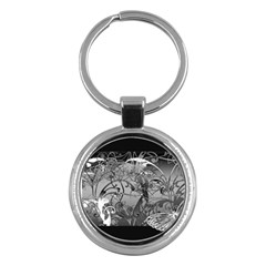 Kringel Circle Flowers Butterfly Key Chains (round)