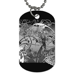 Kringel Circle Flowers Butterfly Dog Tag (one Side)