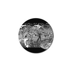 Kringel Circle Flowers Butterfly Golf Ball Marker (10 Pack)