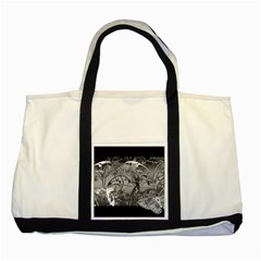 Kringel Circle Flowers Butterfly Two Tone Tote Bag