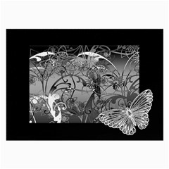 Kringel Circle Flowers Butterfly Large Glasses Cloth (2 Side)