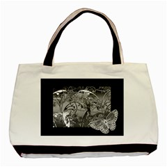 Kringel Circle Flowers Butterfly Basic Tote Bag (two Sides)