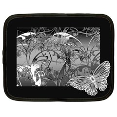 Kringel Circle Flowers Butterfly Netbook Case (xl)