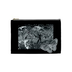 Kringel Circle Flowers Butterfly Cosmetic Bag (medium)