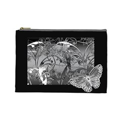 Kringel Circle Flowers Butterfly Cosmetic Bag (large)