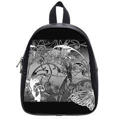 Kringel Circle Flowers Butterfly School Bags (small)