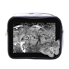 Kringel Circle Flowers Butterfly Mini Toiletries Bags