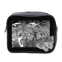Kringel Circle Flowers Butterfly Mini Toiletries Bag 2 Side