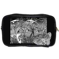 Kringel Circle Flowers Butterfly Toiletries Bags 2 Side