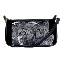 Kringel Circle Flowers Butterfly Shoulder Clutch Bags