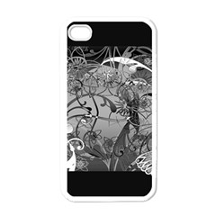Kringel Circle Flowers Butterfly Apple Iphone 4 Case (white)