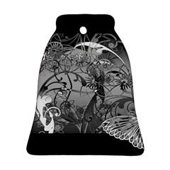 Kringel Circle Flowers Butterfly Bell Ornament (2 Sides)