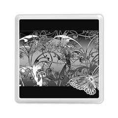 Kringel Circle Flowers Butterfly Memory Card Reader (square)