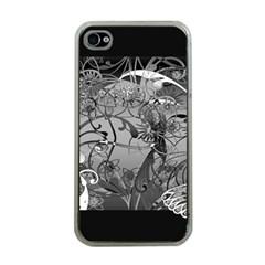 Kringel Circle Flowers Butterfly Apple Iphone 4 Case (clear)