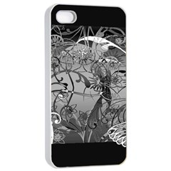 Kringel Circle Flowers Butterfly Apple Iphone 4/4s Seamless Case (white)