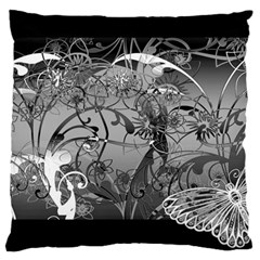 Kringel Circle Flowers Butterfly Large Cushion Case (one Side)