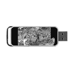 Kringel Circle Flowers Butterfly Portable Usb Flash (one Side)