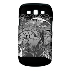 Kringel Circle Flowers Butterfly Samsung Galaxy S Iii Classic Hardshell Case (pc+silicone)