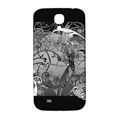 Kringel Circle Flowers Butterfly Samsung Galaxy S4 I9500/i9505  Hardshell Back Case